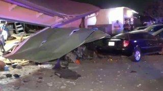 A crash scene in Covina.
