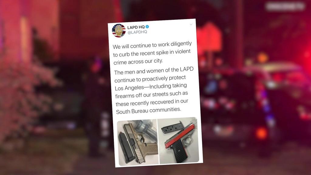 LAPD social media on crime increase
