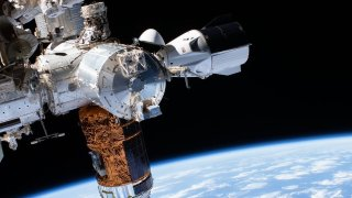 SpaceC's Crew Dragon Endeavor docked with the International Space Station