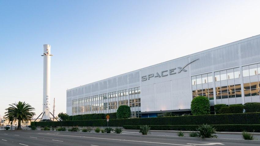 加利福尼亚州洛杉矶--8月03日:2020年8月03日,加州洛杉矶,SpaceX总部总图。  (图片:AaronP/Bauer-Griffin/GC Images)(photo:NBCLA)