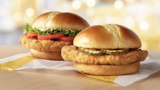 McDonald's Crispy Chicken Sandwich and Deluxe Crispy Chicken Sandwich.