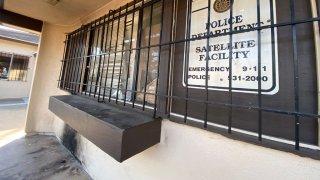 SDPD Balboa Park storefront vandalism