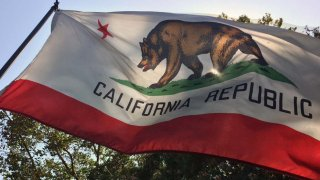 The California Republic flag.