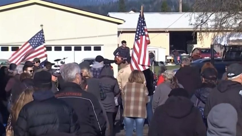 Hundreds attended a 'Freedom Rally' in Washington state over the lastest COVID-19 restrictions on small businesses.
