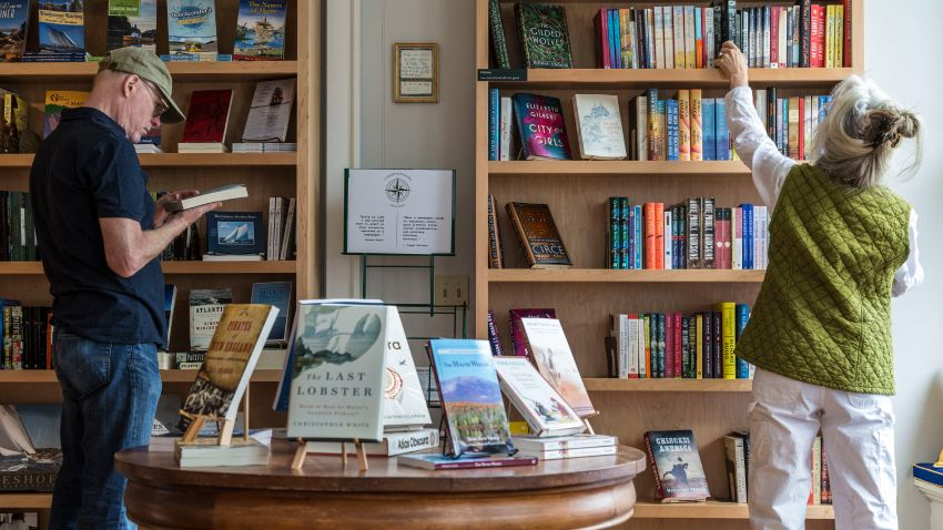 people shopping at an independent bookstore