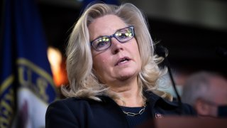 UNITED STATES - NOVEMBER 17: Republican Conference Chair Liz Cheney, R-Wyo., speaks during a news conference with other House Republican leadership in Washington on Tuesday, Nov. 17, 2020.