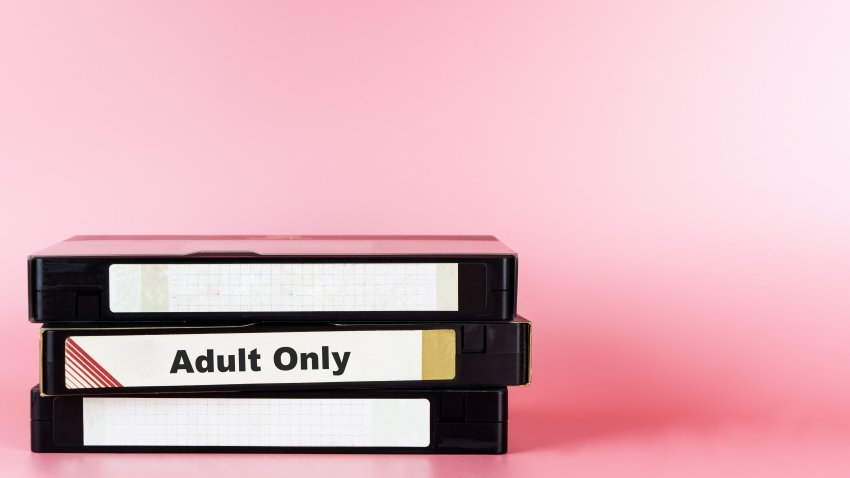 File photo to illustrate adult movies on video tape for pornography.