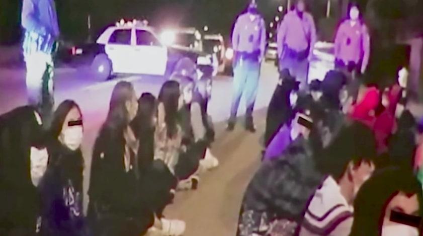 文件图片。在2020年12月COVID-19大流行期间的第一个周末,代表们在Palmdale的一个所谓的 '超级传播者 '活动中逮捕了派对参与者。(photo:NBCLA)