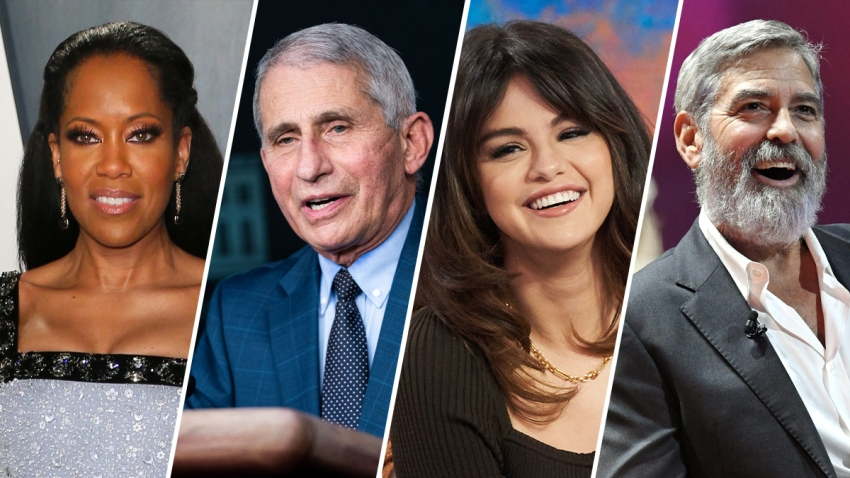 "From left: Actor Regina King, Dr. Anthony Fauci, singer Selena Gomez and actor George Clooney are four of People Magazine's ""2020 People of the Year."""
