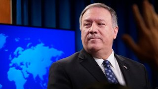 U.S. Secretary of State Mike Pompeo speaks at the U.S. State