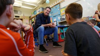 Gavin Newsom at Paradise Ridge Elementary School