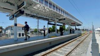 Metro Blue Line construction progress