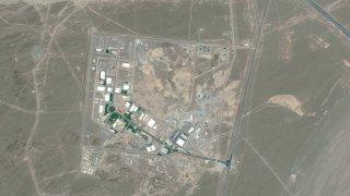NATANZ FUEL ENRICHMENT PLANT, IRAN -- DECEMBER 24, 2013: Maxar satellite imagery of the Natanz hardened Fuel Enrichment Plant in Iran