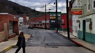 The hardscrabble town of Lonaconing, Maryland (downtown pict