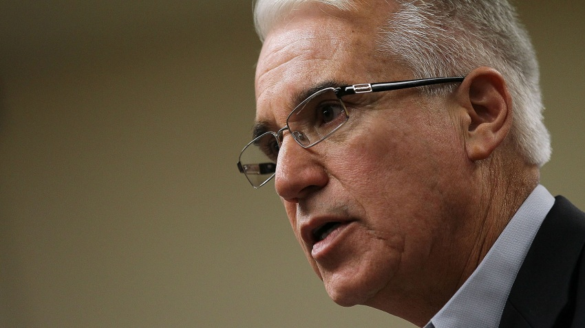George Gascon speaks during a news conference.