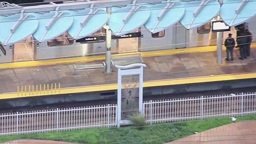 A Metro train operator was struck by gunfire.