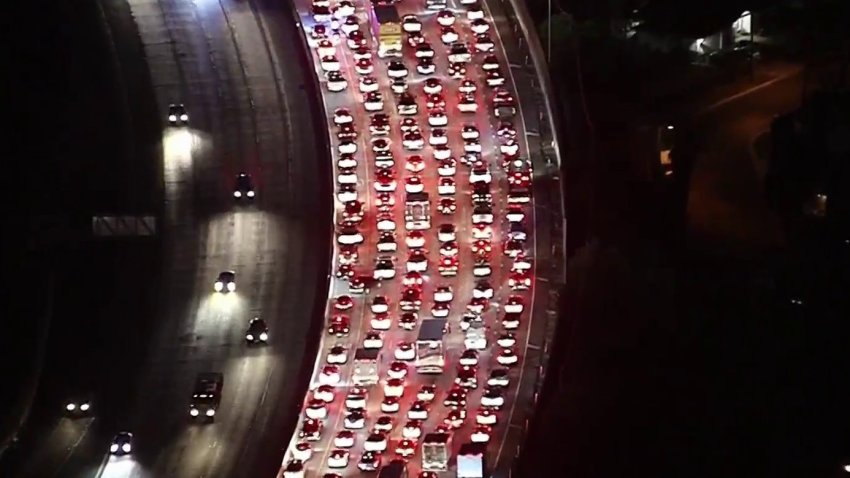 A crash closed part of the 170 Freeway.