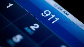 911 on a phone screen