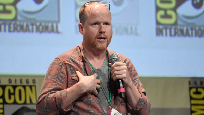 "Joss Whedon speaks at the ""Dark Horse: An Afternoon with Joss Whedon"" panel on day 3 of Comic-Con International on Saturday, July 11, 2015, in San Diego, Calif."