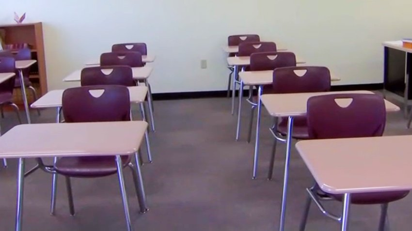 File image of an empty classroom.
