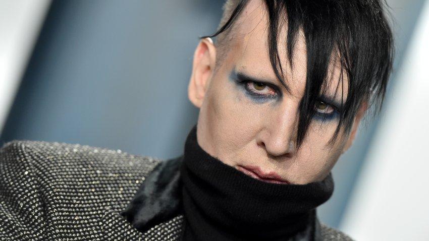 Marilyn Manson attends the 2020 Vanity Fair Oscar Party.