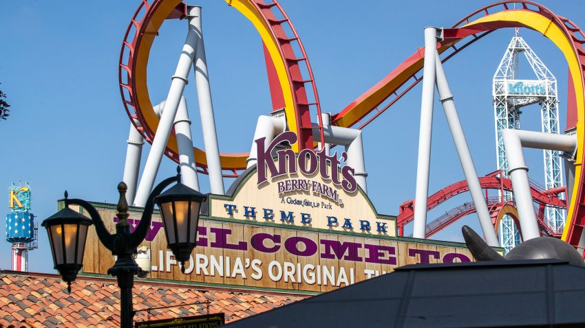 A view of Knott's Berry Farm.