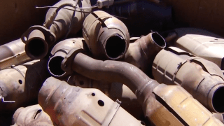 Catalytic converters are pictured.