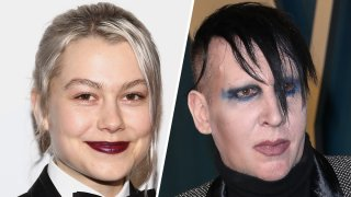 (Left) Phoebe Bridgers, (Right) Marilyn Manson.