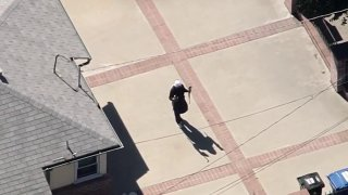 LAPD responded to a Reseda neighborhood after a disturbance report.