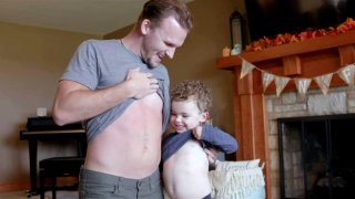Grant and Brooks showed off their scars from the lifesaving transplant.