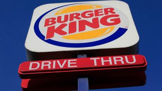 FILE - This 2010 photo shows a sign outside a Burger King restaurant in Philadelphia.