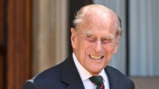Prince Philip, Duke of Edinburgh during the transfer of the Colonel-in-Chief of The Rifles at Windsor Castle on July 22, 2020 in Windsor, England.
