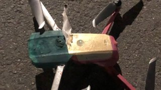 An image provided by the Simi Valley Police Department shows what investigators say is heroin attached to a drone.