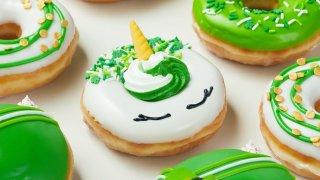 Krispy Kreme green donuts.