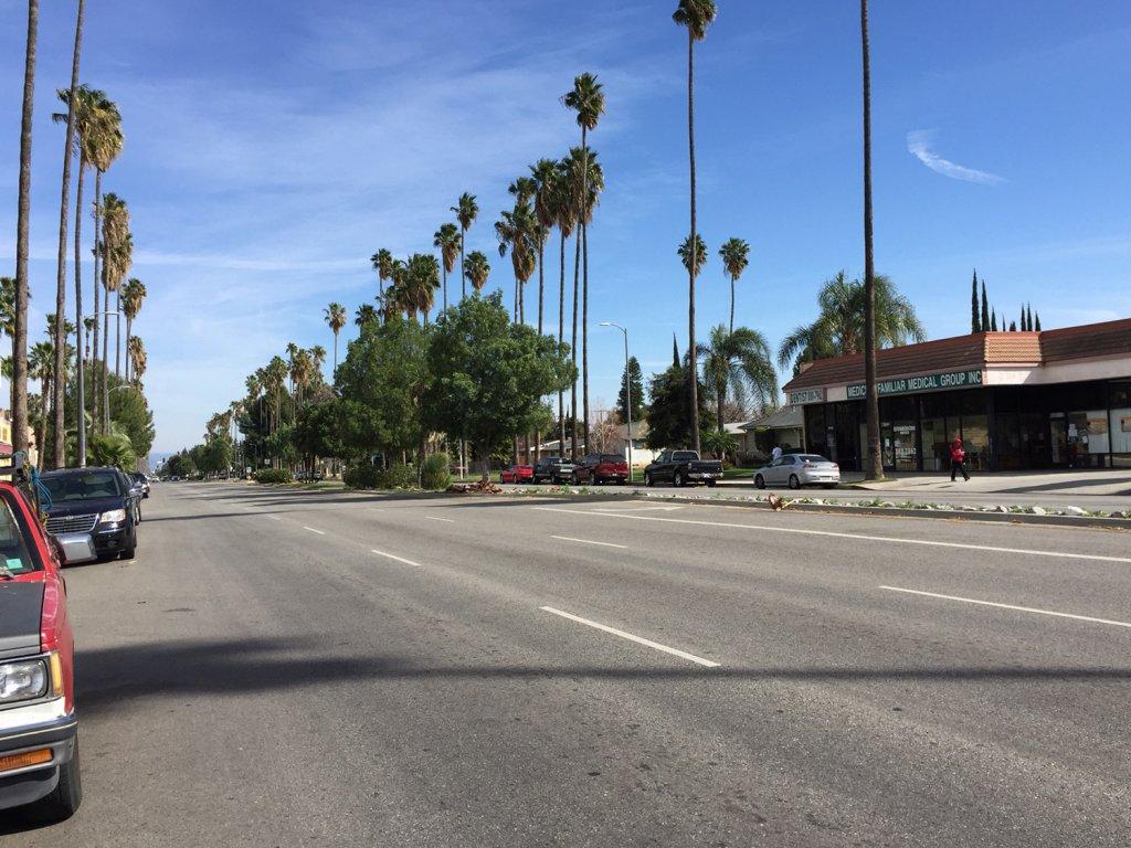 This modern day images shows Sherman Way at Mason Avenue.