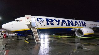 File photo of a Ryanair Boeing 737-800 aircraft parked at Eindhoven airport in the Netherlands.