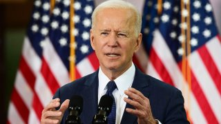 In this March 31, 2021, file photo, President Joe Biden speaks in Pittsburgh, Pennsylvania.