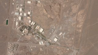 In this satellite image from April 7, 2021, Planet Labs Inc. shows Iran's Natanz nuclear facility. Iran's Natanz nuclear site began enriching uranium at 60%.