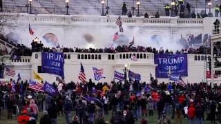 In this Jan. 6, 2021, file photo, rioters storm the U.S. Capitol in Washington, D.C.