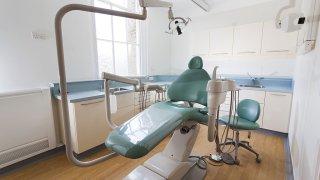 a dentist chair