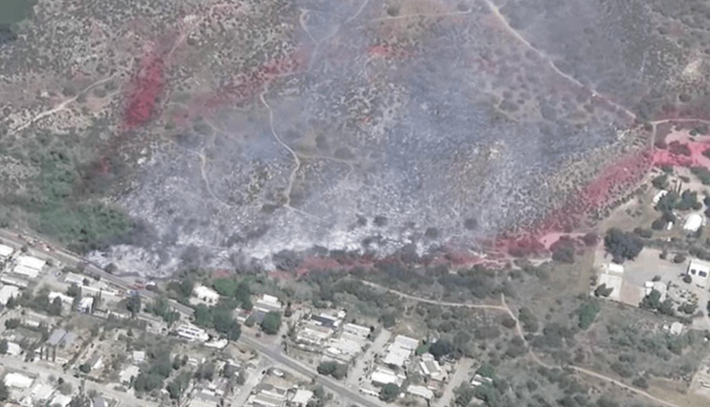 Evacuations Ordered as Blaze Threatens Homes South of Lake Mathews
