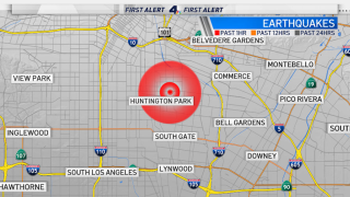 A magnitude-3.2 earthquake was reported in the Huntington Park area early Thursday April 1, 2021.