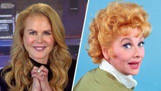 (Left) Nicole Kidman, (Right) Lucille Ball.