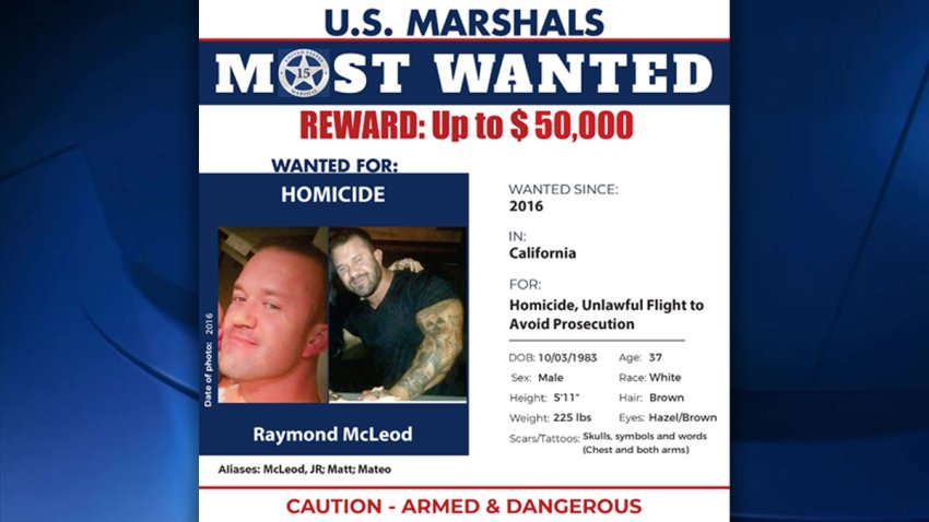 A wanted poster for Rayond McLeod