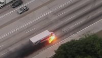 Stolen U-Haul Chase Ends in Flames
