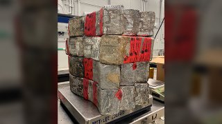 seized drug bundles containing 132 pounds of methamphetamine.