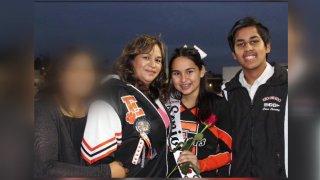 Left to right: 16-year-old daughter, mother Carmen Hernandez, daughter Catherine Hernandez, son Alberto Suarez.