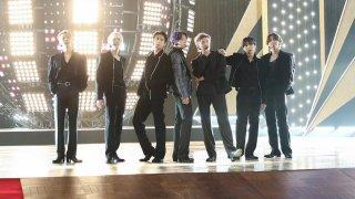 (l-r) Jimin, J-Hope, Jin, Jungkook, RM, Suga, and V of BTS