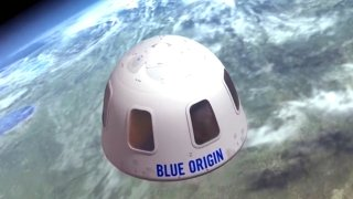 This undated file illustration provided by Blue Origin shows the capsule that the company aims to take tourists into space