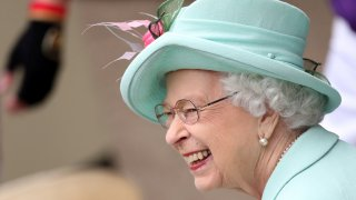 Britain's Queen Elizabeth II smiles, during day five of of the Royal Ascot horserace